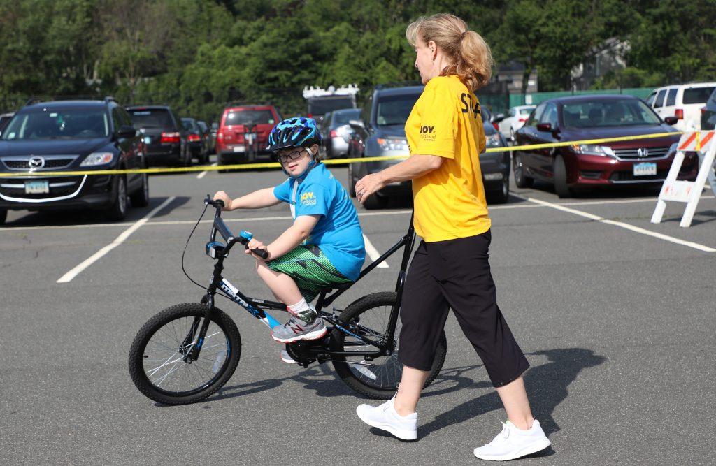 iCan Bike Volunteer and Rider